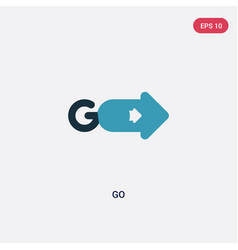 Two color go icon from user interface concept vector