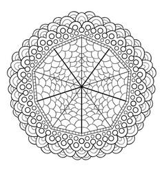 unique mandala design round ornamental pattern vector image
