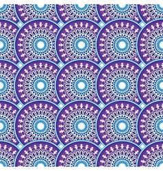 vintage violet-blue-white seamless pattern vector image