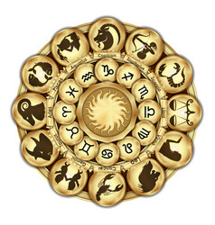zodiac signs medallions vector image
