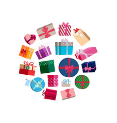 gift packages and boxes with colorful vector image vector image