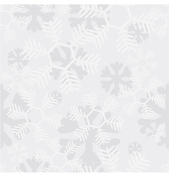 modern snowflakes seamless background vector image