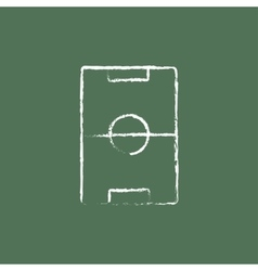 Stadium layout icon drawn in chalk vector image vector image
