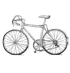 vintage bicycle hand drawn vector image vector image
