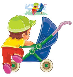 clip art of little child vector image vector image