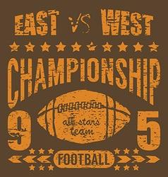 Football sport typography t-shirt printing design vector