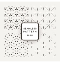Set of seamless patterns from dot stars and vector image vector image