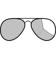 sunglasses with broken glass vector image vector image