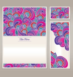 The pattern drawn for letterhead and business card vector image vector image