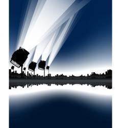 awarding ceremony urban skyline vector image vector image