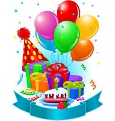 birthday decorations vector image vector image