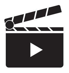 clapper board icon on white background clapper vector image