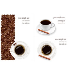 coffee and beans background vector image vector image