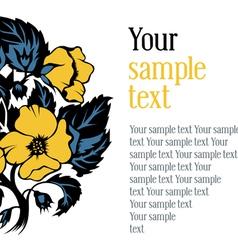 design textual frame vector image vector image
