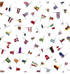 Many flags on a pole seamless pattern vector image
