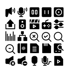 Multimedia Icons 9 vector image vector image