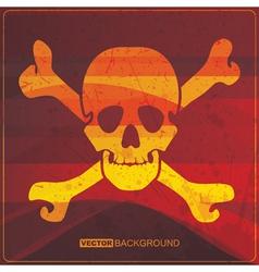 Skull on grunge background vector image vector image