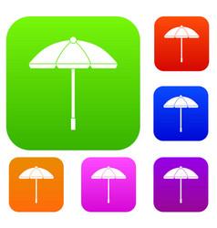 sun umbrella set collection vector image vector image
