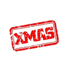 Xmas rubber stamp vector image vector image