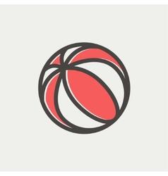 Beach ball thin line icon vector