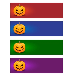 Colorful halloween banners vector image vector image