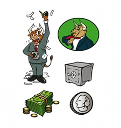 finance collection vector image vector image