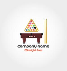Midnight pool - company name vector