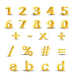 Set of golden numbers vector