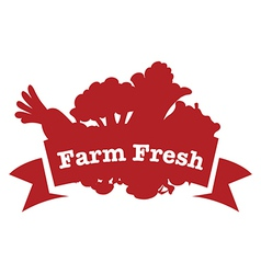 A farm fresh label vector