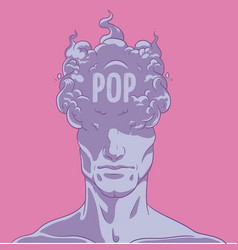 A person turns into smoke pop music vector