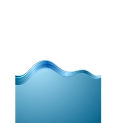 Abstract blue white wavy background vector image