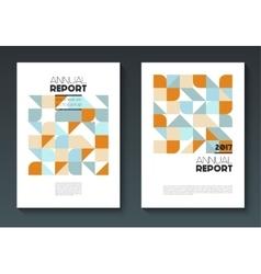 Annual report templates vector