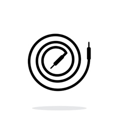 Audio cable icon on white background vector