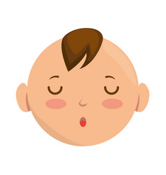 baby face avatar character vector image