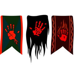 Banners with red palms vector