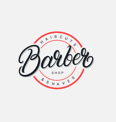 Barber shop lettering logo vector