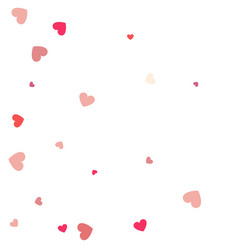 beautiful confetti hearts falling on background vector image