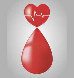 Blood drop icon vector