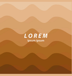 Brown abstract background smooth wavy lines vector