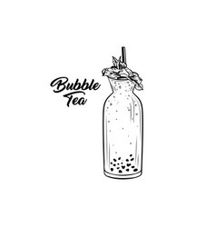 bubble tea bottle vector image