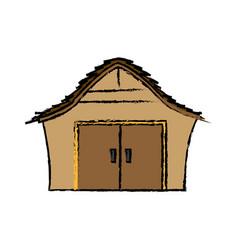 cartoon house manger wooden christmas vector image