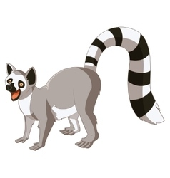 Cartoon smiling lemur vector