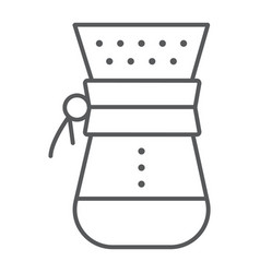 Chemex thin line icon coffee and cafe vector