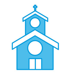 church building symbol vector image