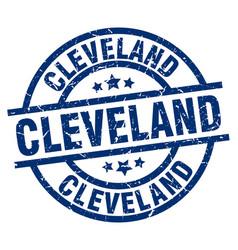 Cleveland blue round grunge stamp vector