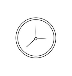 Clock watch time element outline vector
