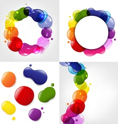 Colorful Splotch Formations vector