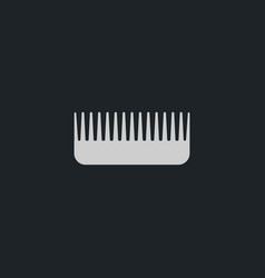 Comb icon simple barbershop vector