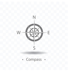 compass or wind rose icon on vector image