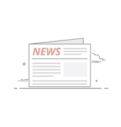 Concept of daily or weekly news published in the vector image